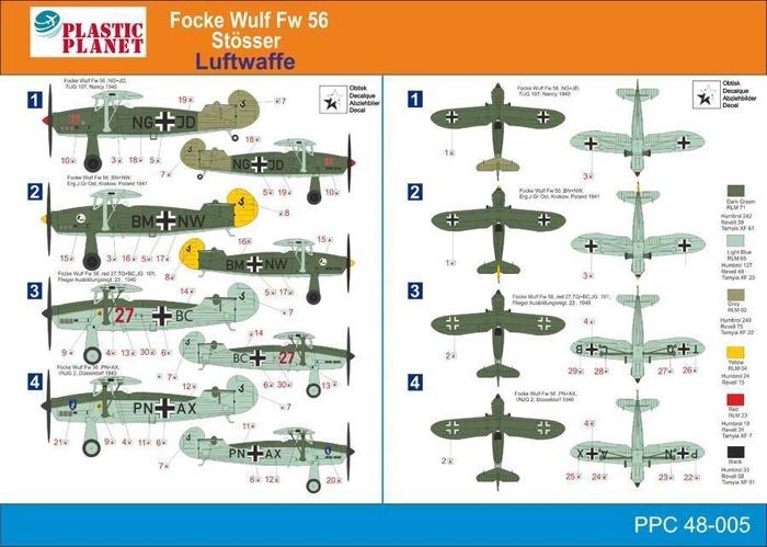 """Plastic Planet Club 1:48 Focke Wulf FW-56 """"STÖSSER"""" (Luftwaffe ..."""